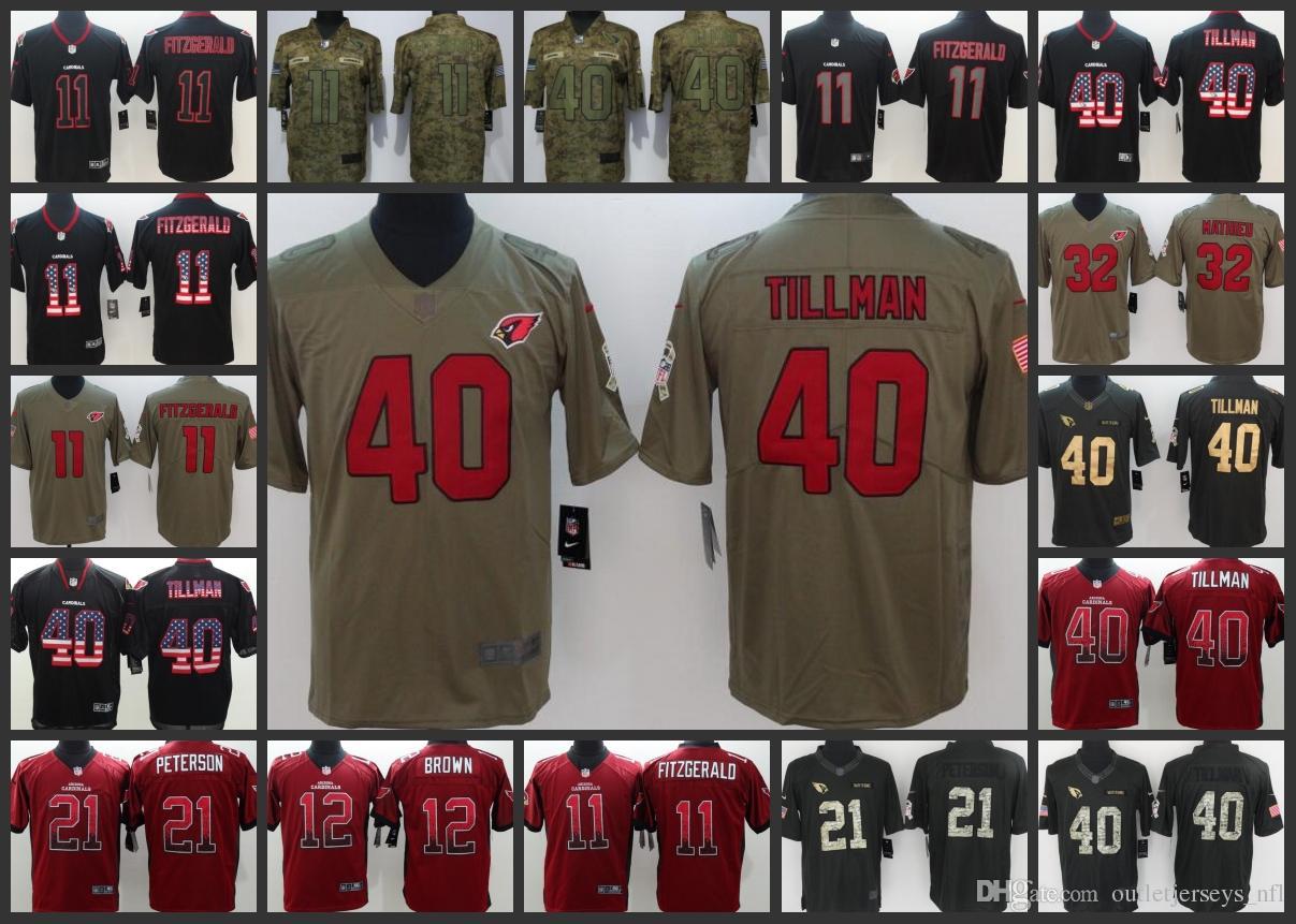 2122d0d39 Arizona Men Cardinals Jersey  11 Larry Fitzgerald 40 Pat Tillman 32 Tyrann  Mathieu 21 Patrick Peterson Women Youth Limited Football Jerseys Online  with ...