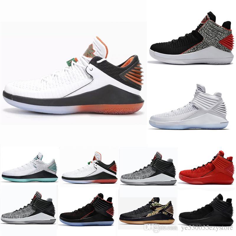 Acheter Nike Air Jordan Aj32 Pas Cher 2018 Nouvelle Arrivée 32 Bas Noir  Chat Blanc Bleu Jaune Rouge Rouge Chaussures De Basket Ball Pour Top  Qualité 32s ... a8f63ecde8f