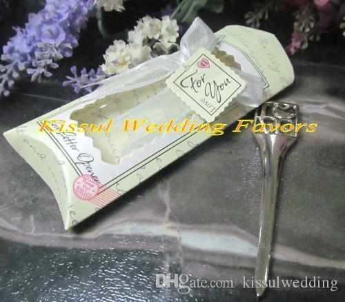 Unique Wedding favors of Chrome love letter opener Wedding anniversary party favors and wedding keepsake gift