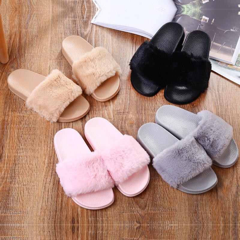 069bb4056738 2018 Autumn Winter Casual Slipper Flip Flop Sandal Womens Slippers ...