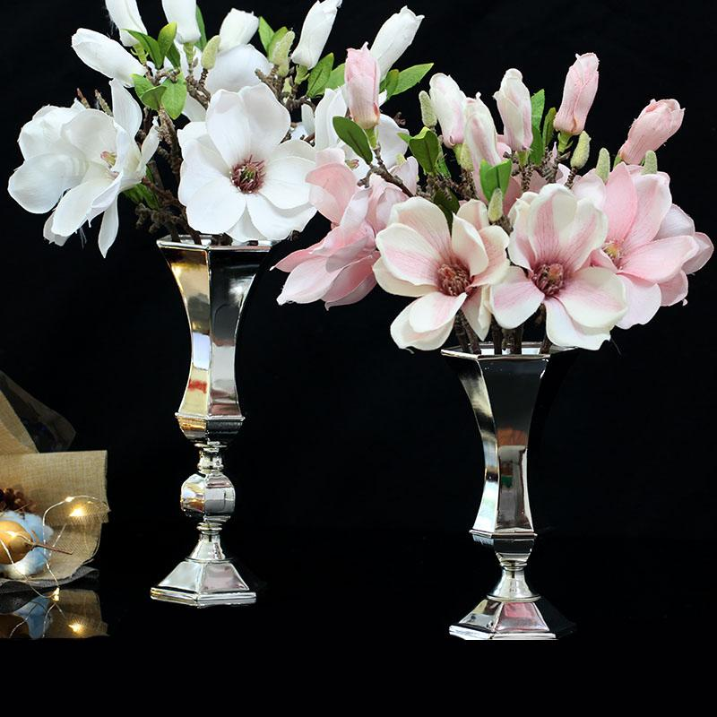 Luxuriou Silver Plated Flower Rack Iron Metal Modern Hotel Table Home Decoration Vase And Tall Vases For Wedding Flower Vase 025 Floor Vase With Flowers ... & Luxuriou Silver Plated Flower Rack Iron Metal Modern Hotel Table ...