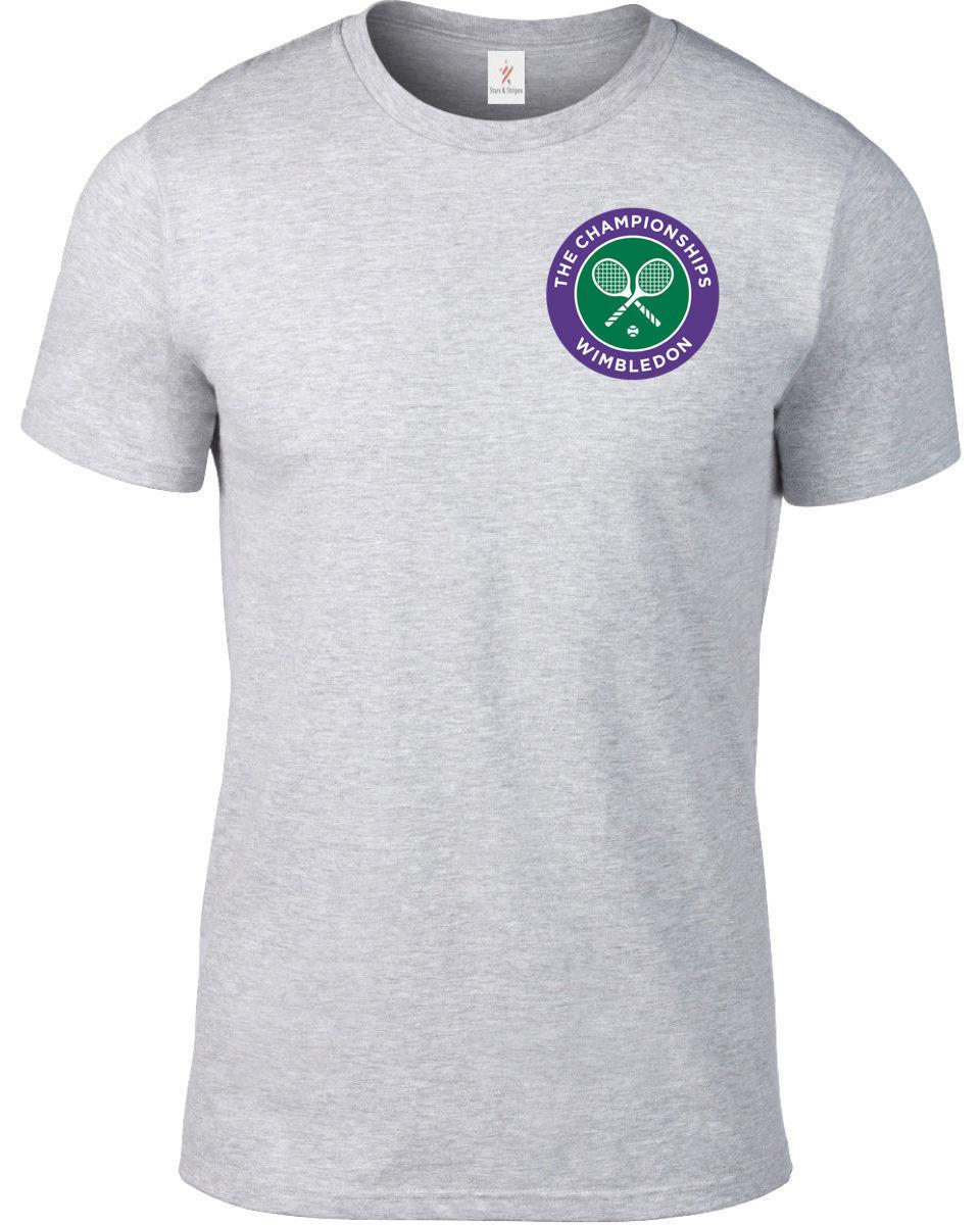 Wimbledon Tennis T Shirt Federer Nadal Murray Plus Sizes S 5xl 1341