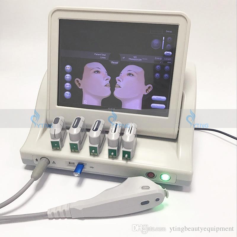 전문 HIFU 기계 얼굴 리프트 안티 에이징 고강도 초음파 초음파 HIFU 피부 강화 뷰티 살롱 장비 3 또는 5 헤드