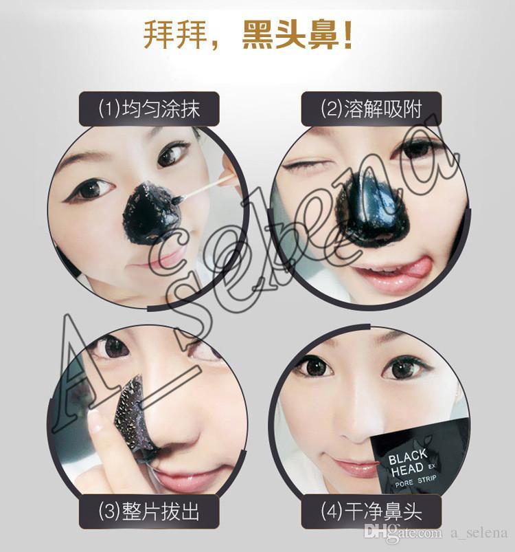Novo PILATEN Cabeça Preta Ex Pore Tira Minerais Faciais Conk Nariz Removedor de Cravo Nariz Máscara Limpador de Poros Nariz