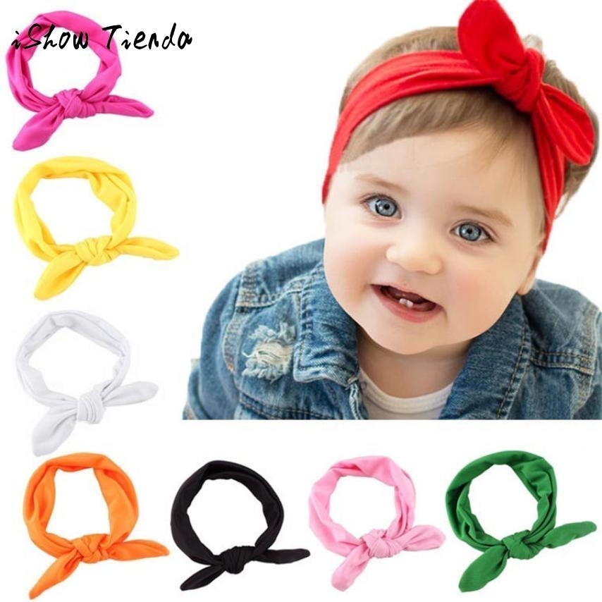 257557df565 2018 New Baby Girl Headwear Solid Knot Headband Kids Cotton Turban Knitted  Hair Accessories Children Cross Wraps For Children Floral Hair Accessories  Hair ...