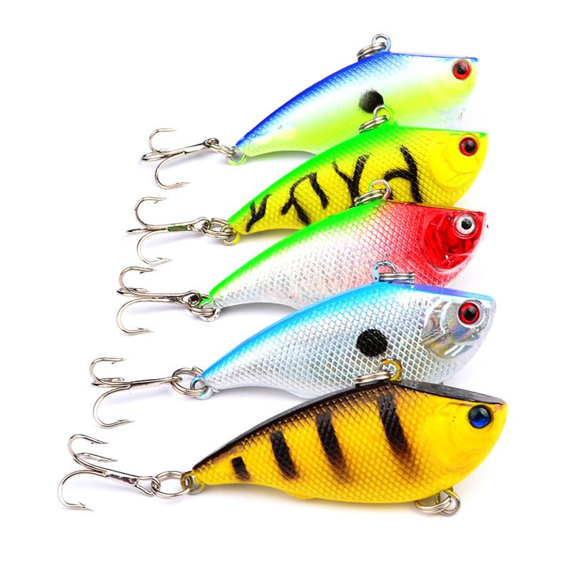 3D Eyes Plastic VIB laser Alice lure 5.5cm 7.5g Artificial Rattlin Bass Dray Fishing Baits hooks