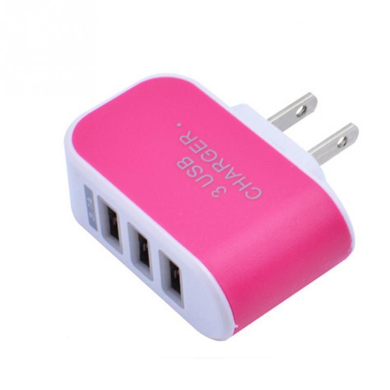 آيفون 6 7 زائد 3 ميناء الشحن السريع شاحن USB الإضافية 3.1a الثلاثي USB ميناء قابس الاتحاد الأوروبي شاحن حائط المنزل للسفر AC محول الولايات المتحدة لAndroid و iOS