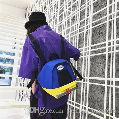 00d1279d501 Hot Style Bag 2018 Summer Chic Contrast Oxford Cloth Backpack Bags Rucksack  From Fashion bagstore,  15.23  DHgate.Com