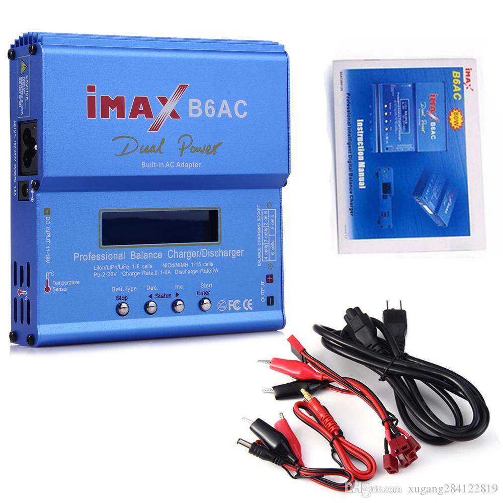 Imax B6ac Digital Ac 80w Lipo Nimh Nicd Lithium Battery Balance B6 Rc Charger And Discharger With Lcd Screen Power Supply Eu Plug Ego E Cig Electronic