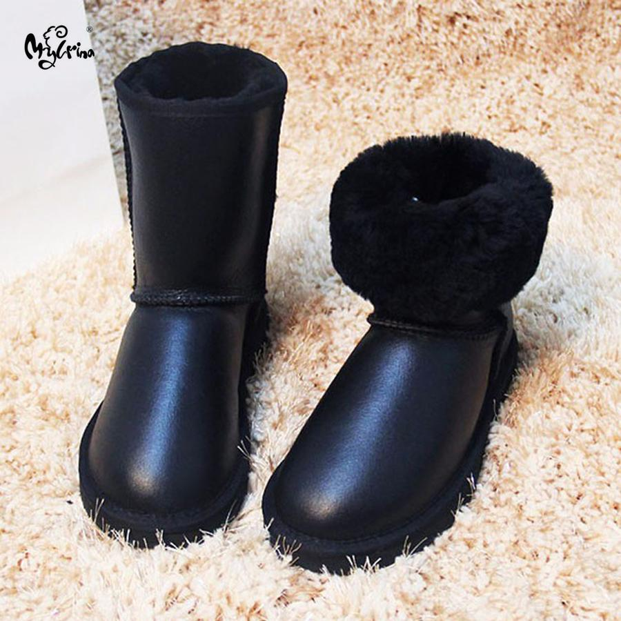 Hot Sale New Style High Quality Natural Fur Warm Snow Boots 100% Wool Winter Boots Women Ankle Boots Genuine Leather Women Shoes Luggage & Bags Functional Bags