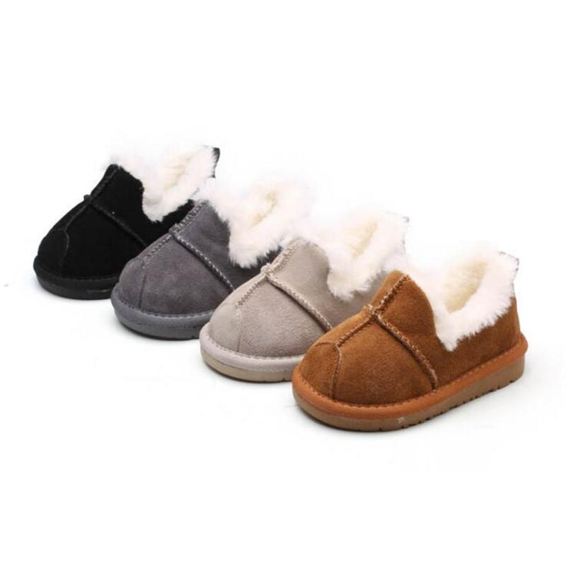 b25b1458562 Baby Snow Boots for boys and girls Kids Snow Boots Sheepskin Real Fur Shoes  Children Geanuine Leather Australia Shoes size 21-25