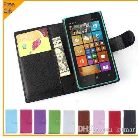 online store e7d2e d4cdf Luxury Wallet Leather Flip Case Cover For Nokia Microsoft Lumia 532 Dual  SIM Cell Phone Case Back Cover With Card Holder Stand