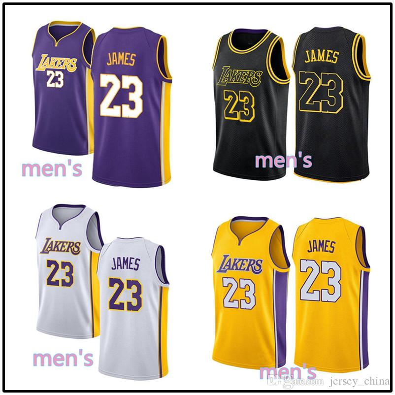 2759e6c8ebe 2019 Cheap Hot 23 Lebron James Jersey Men 2018 New City Edition Embroidery  Stitched Yellow Purple White Black Youth Jerseys From Jersey_china, ...