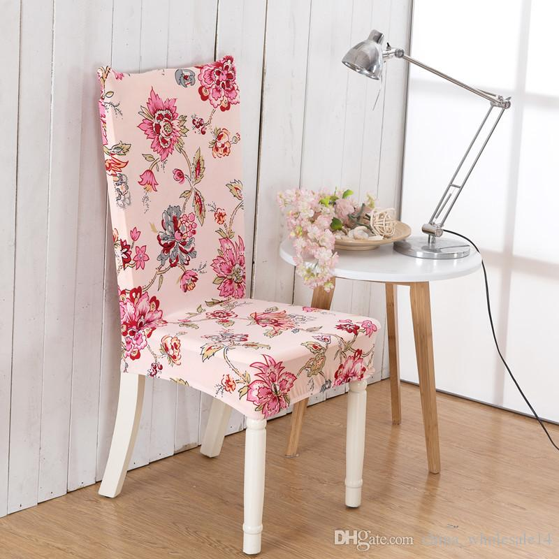 Captivating Spandex Elastic Simple Style Beautiful Flower Pattern Chair Covers  Dustproof Stretch Modern Party Dining Seat Cover Fabric Chair Covers For  Dining Room ...