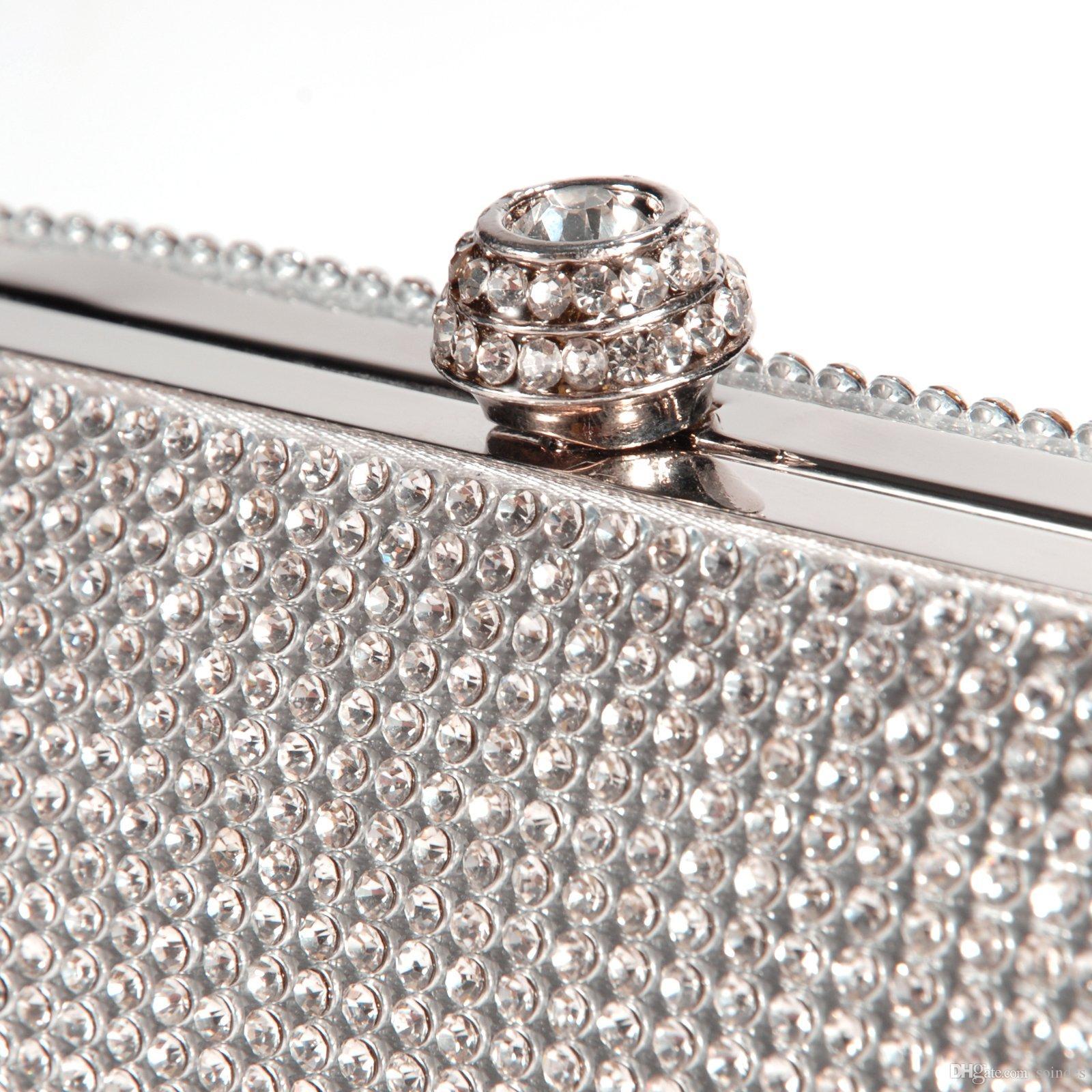 Diamants Cluthes Longue Sac À Main Dames Strass Sac De Soirée Chaîne D'épaule Banquet De Soirée Pochettes De Soirée