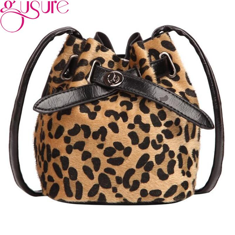 1d509038686ab Gusure Vintage Leopard Print Bag Women Bucket Shoulder Bags Velvet  Messenger Bags Female Drawstring Style Crossbody Bag Leather Satchel Ladies  Bags From ...