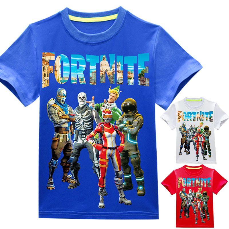 Compre Es Ninos Ninas Fortnite Camiseta 2018 Nuevos Ninos Juego De