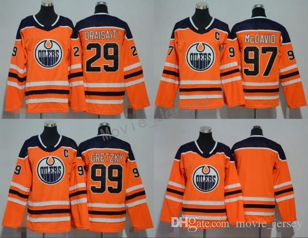 Best Quality Edmonton Oilers Men Youth Women Jerseys 2018 AD Ice Hockey 99  Wayne Gretzky 29 Leon Draisaitl 97 Connor McDavid Jersey Kids Woman Orange  At ... 120ce881b6