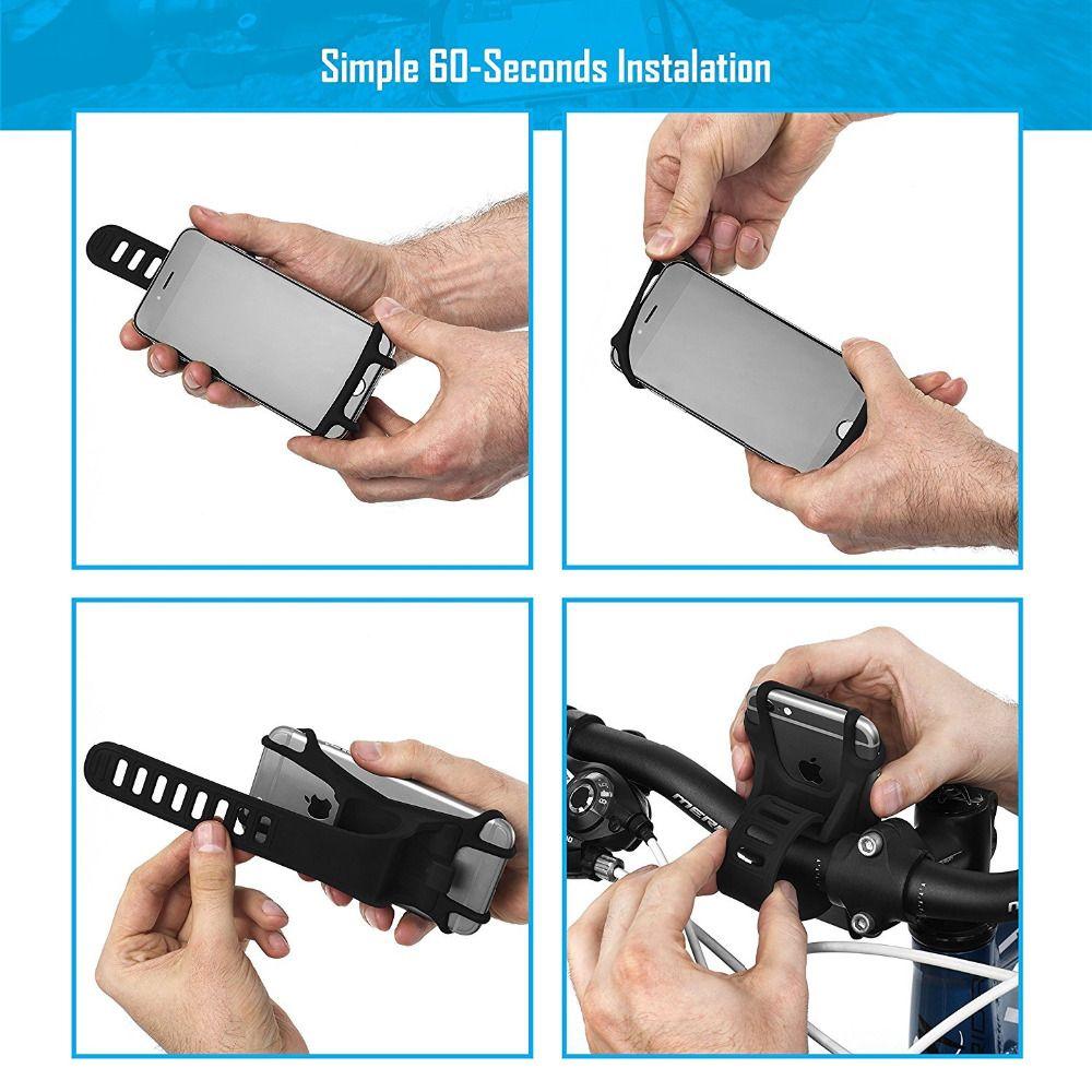 Stoßfest Stabile Universal Fahrrad Handyhalter Silikon Gummiband Lenker einstellbar GPS telefon Halterung Ständer Fahrrad Motorrad montieren
