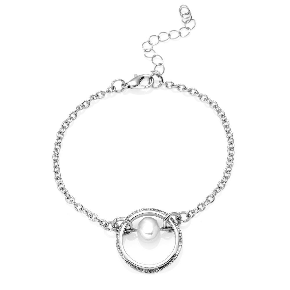 f2311992de0e Compre Pulsera De Perlas De Imitación Para Mujer Perla De Bolas ...