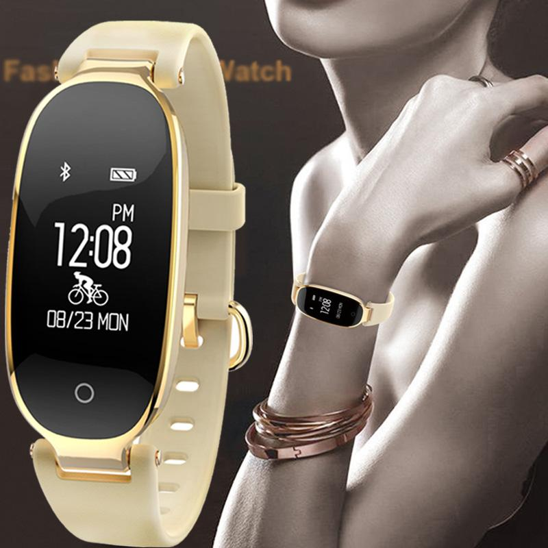 Bluetooth Waterproof S3 Smart Watch Women Heart Rate Monitor Ladies Fitness  Tracker Smartwatch For Android IOS Fashion Reloj Online Wrist Watches Wrist  ... c14c5d68249a