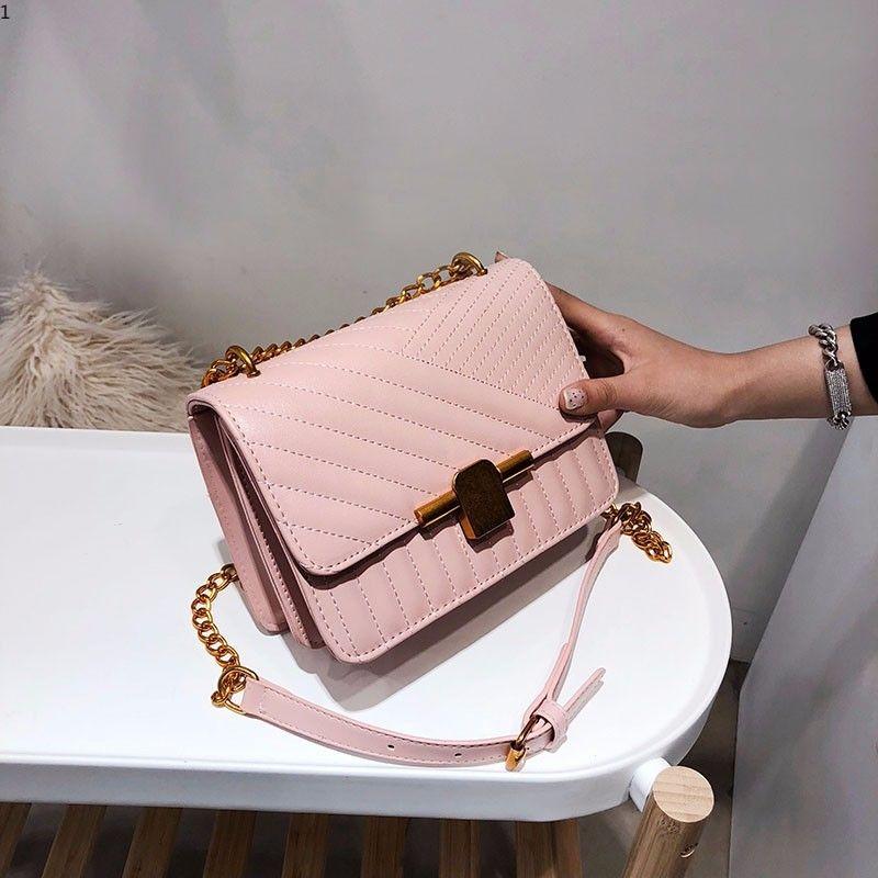 def29b76860d Luxury Designer Women Small Shoulder Bag Ladies Mini Cute Solid Color Handbag  Beautiful Crossbody Bags Chain Messenger Bag Pink Black White Purses  Wholesale ...