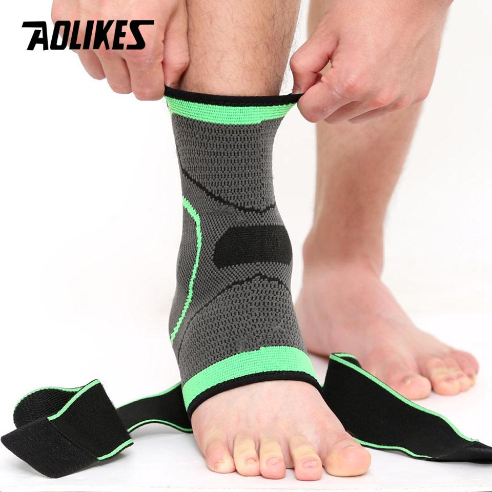 Orthopedics & Supports Orthotics, Braces & Sleeves Elastic Ankle Support Professional Sports Support Protector Brace Sporting Strap