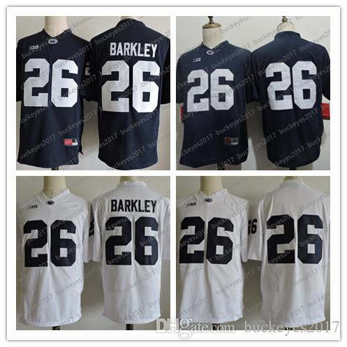 2019 NCAA Penn State Nittany Lions  26 Saquon Barkley Jersey Stitched White  Navy Blue 2018 New NCAA College Football Jerseys S 3XL From Buckeyes2017 7bb452f83