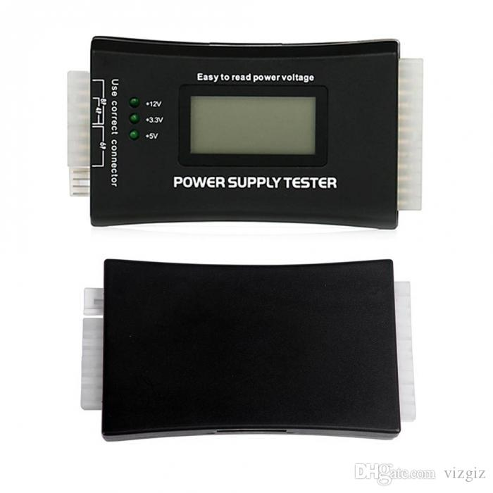 New Computer PC Power Supply Tester With LCD Diaplay 20/24Pin Checker For SATA HDD ATX BTX PCI-E CDROM Floppy XXM8
