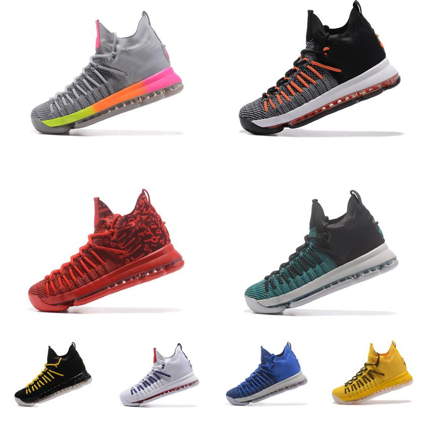 new style 77f65 d572a 2019 Cheap New Men KD 9.5 Elite High Cut Top Basketball Shoes Team Red  Birds Paradise Kevin Durant KD9 IX Sneakers Boots Kds For Sale With Box From  ...
