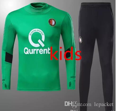 Compre De Calidad Superior 2017 2018 Feyenoord Fútbol Jersey Kit De  Entrenamiento Para Niños Kuyt Lex Vilhena Simon Maillot De Pie 17 18 Kids Chándal  Verde ... 3a525be6e3ead