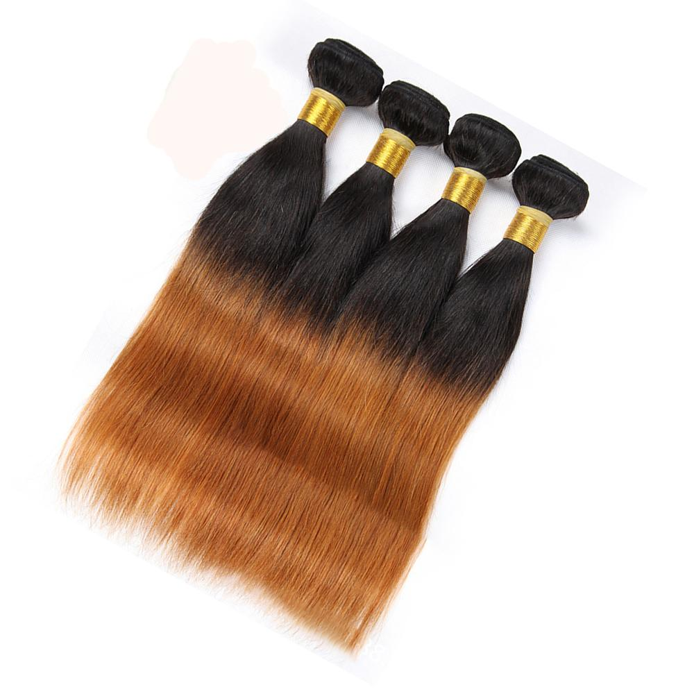 Colored Peruvian Hair 4 Bundles Deals Straight T1b 30 Blonde Ombre