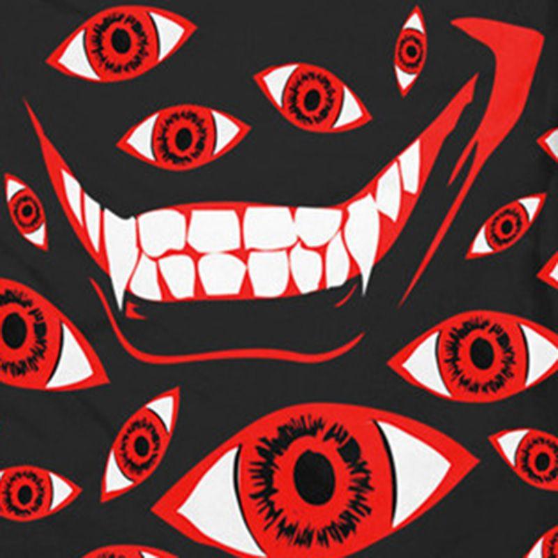 Olhos 3D Impresso t-shirt Gothic Red Eye camisetas Hip Hop Harajuku Tops Jovem Menino Streetwear Tops Plus Size T-shirt Masculinos