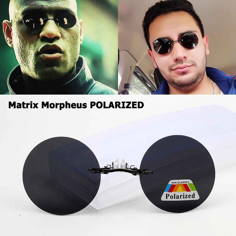 Compre JackJad Matrix Morpheus Style Sin Montura Redonda POLARIZED Gafas De  Sol Hombres Conduciendo Marca Diseño Abrazadera Nariz Gafas De Sol Gafas De  Sol ... 55c23833f626