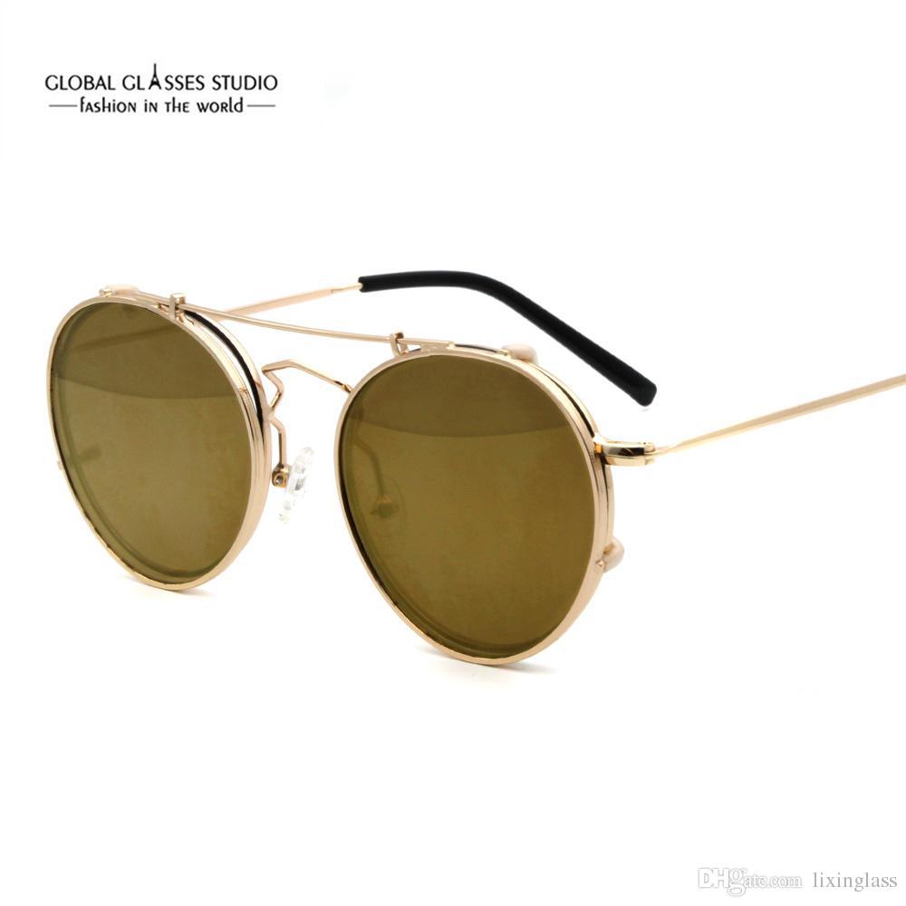 356f2cad6cf74 Compre New Coreano Homens Mulheres Óculos De Sol De Aço Inoxidável Clip On  Óculos De Sol Da Moda Tendência Protetor Solar UV Óculos CMGT103 De  Lixinglass, ...
