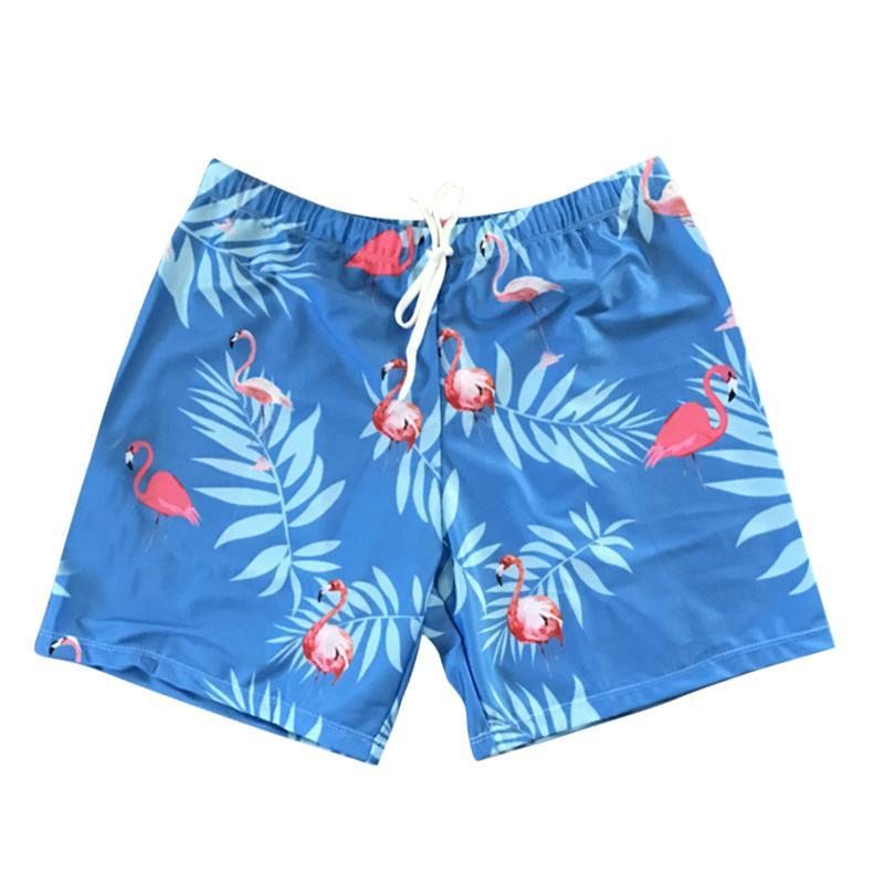 cba8782c1d9 2018 Summer Beachwear Men's Beach Shorts Sexy Flamingo Printed Swimming  Trunks Men Sports Surf Boxer Drawstrings Briefs