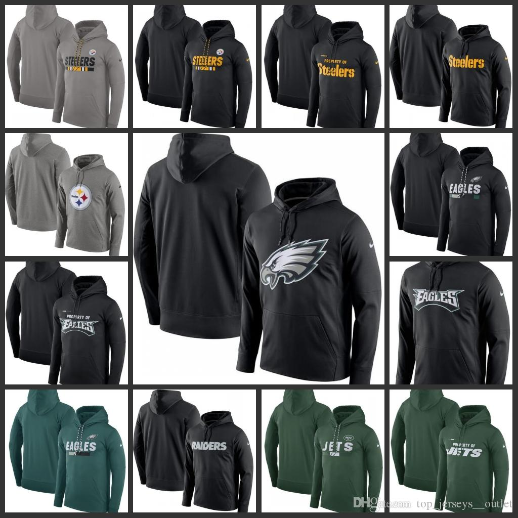 new style b4d03 c53d9 Pittsburgh Steelers Philadelphia Eagles Oakland Raiders New York Jets Men  Property Of Performance Pullover Hoodie