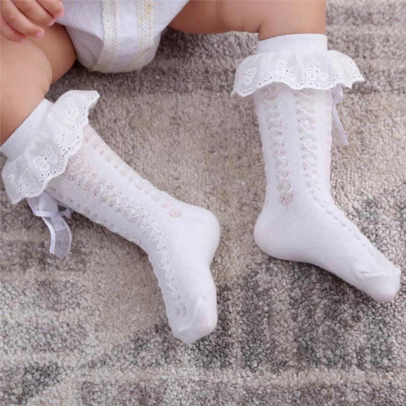 Säugling Mädchen Spitze Gestrickte Strümpfe Baby-Knöchelsocken Baumwolle