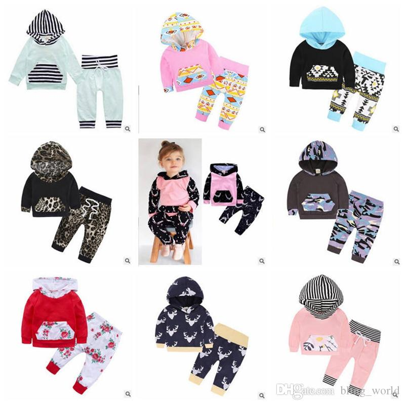 Fox Designer Clothing   2019 Baby Designer Clothes Set Girls Fox Hoodie Set Boys Floral