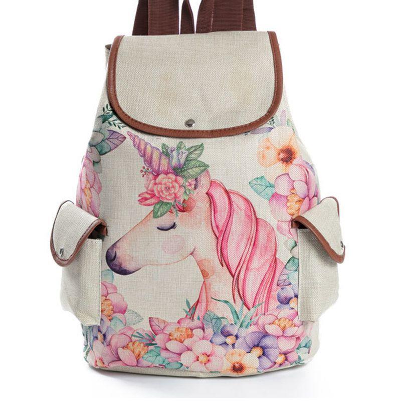 5201056bb 2019 Fashion Unicorn School Backpack Cute Mochila Feminina Fashion  Drawstring Bagpack Kawaii Printing Rucksack Schoolbag Backpack For Girls  Laptop Backpack ...