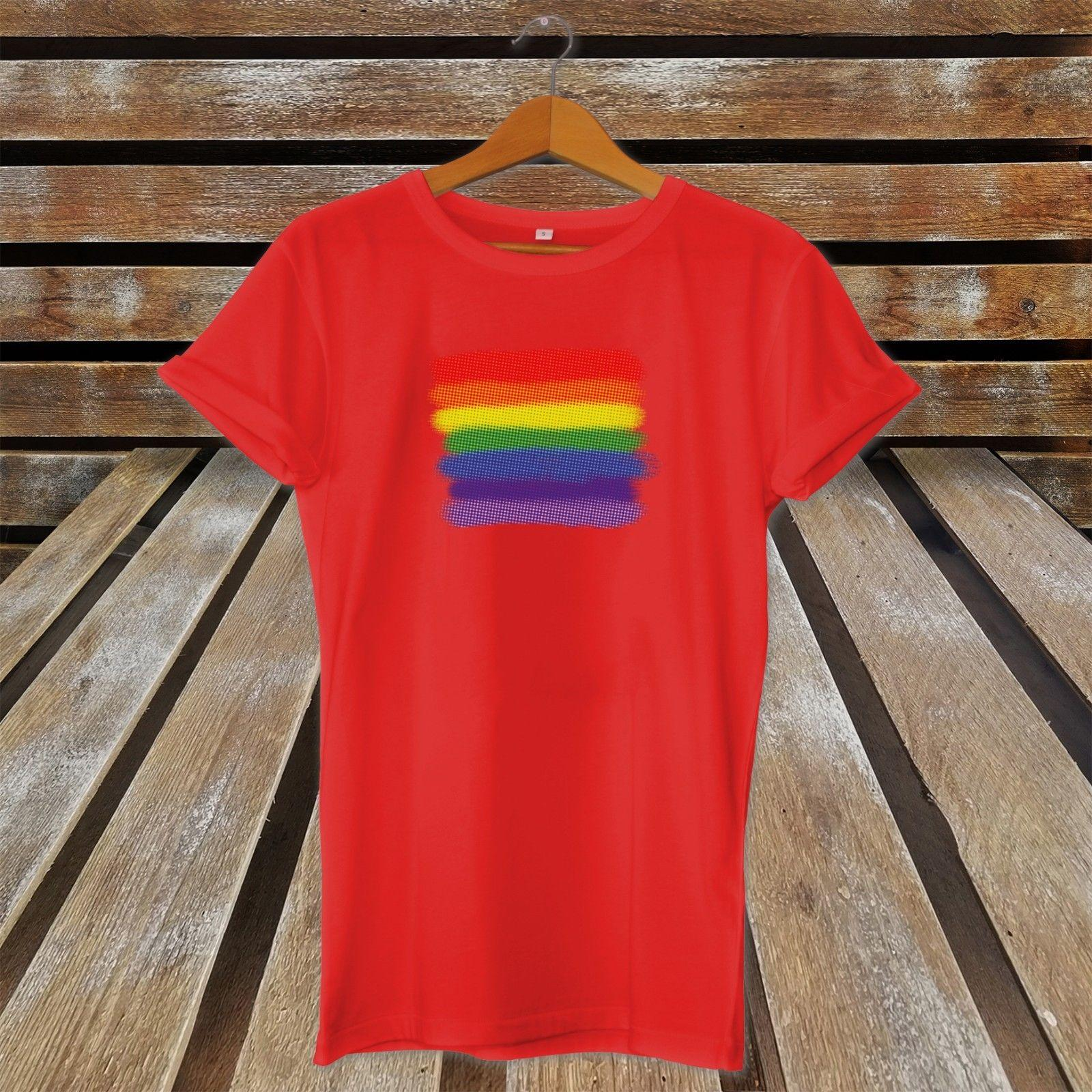 80bd8cee Details Zu Rainbow Halftone Ink Gay Pride T Shirt LGBT Celebration Funny  Unisex Casual Tee Gift Funny Screen Tees Shirts With Design From  Micky_tees, ...