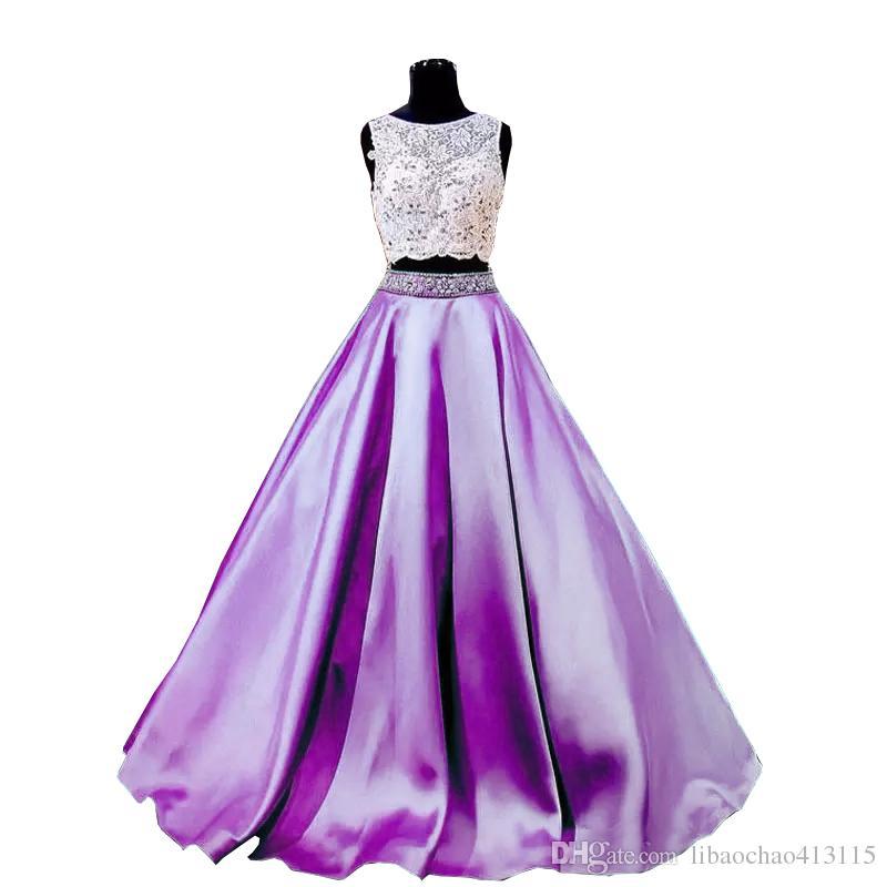 Секссы женские черные бирюзы две части 2019 выпускные платья кружева формальные девочки Pageant платья бисера старинные винтажные платья