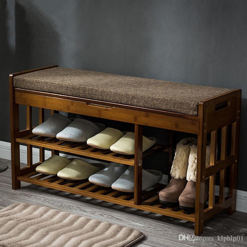 Acheter Rangement Pour Porte Chaussures En Bambou Rangement Banc