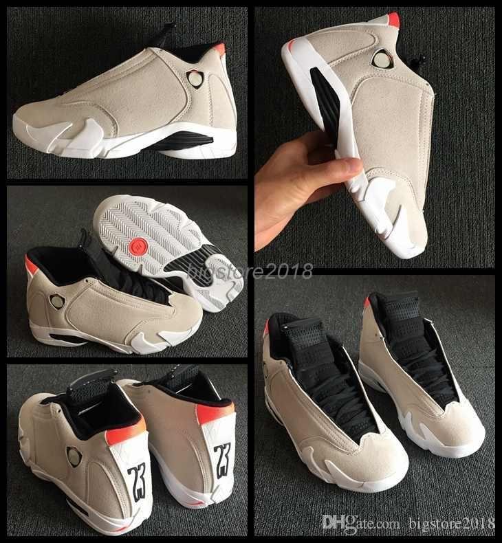 4e97ddc6c27614 2018 New 14 Mens Basketball Shoes Desert Sand Color 14s Men Trainers ...