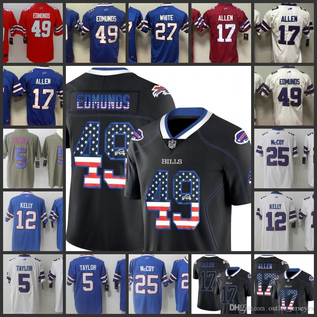 17 Josh Allen Jersey Buffalo Bills 49 Tremaine Edmunds 25 LeSean