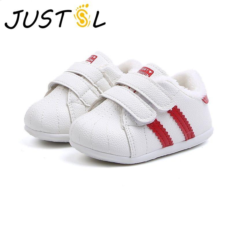 56e8de3972 Neonate bianche scarpe di cotone 0-2 anni scarpe bambino neonato inverno  più velluto neve per bambini taglia 15-19