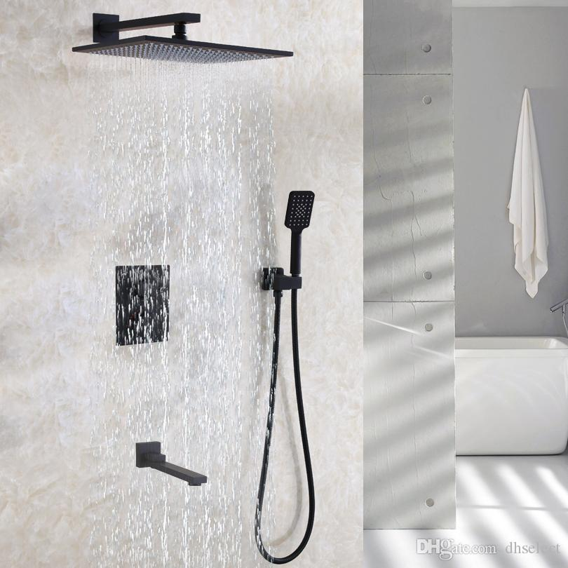 2018 Thermostatic Bathroom Shower Faucet Set Contemporary 12 Inch ...