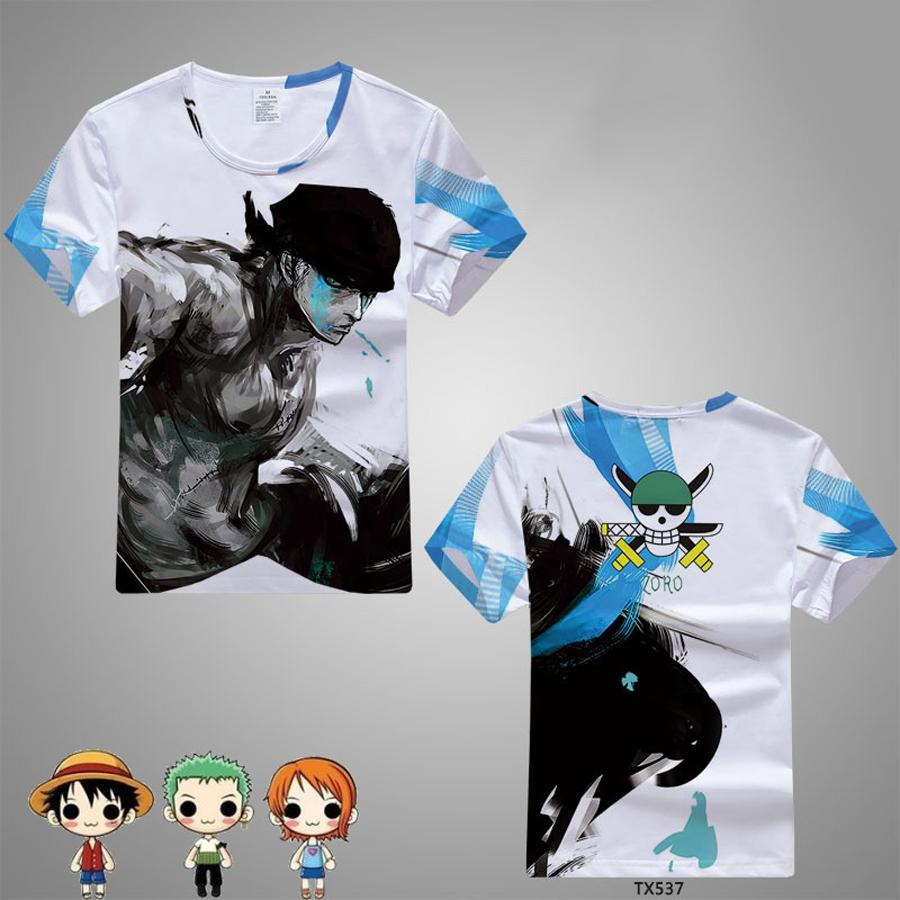 Compre One Piece Camiseta 2018 Moda Japonesa Anime Ropa Luffy Camiseta  Hombre Y Mujeres Camiseta A  38.79 Del Zanzibar  565cf06f04517