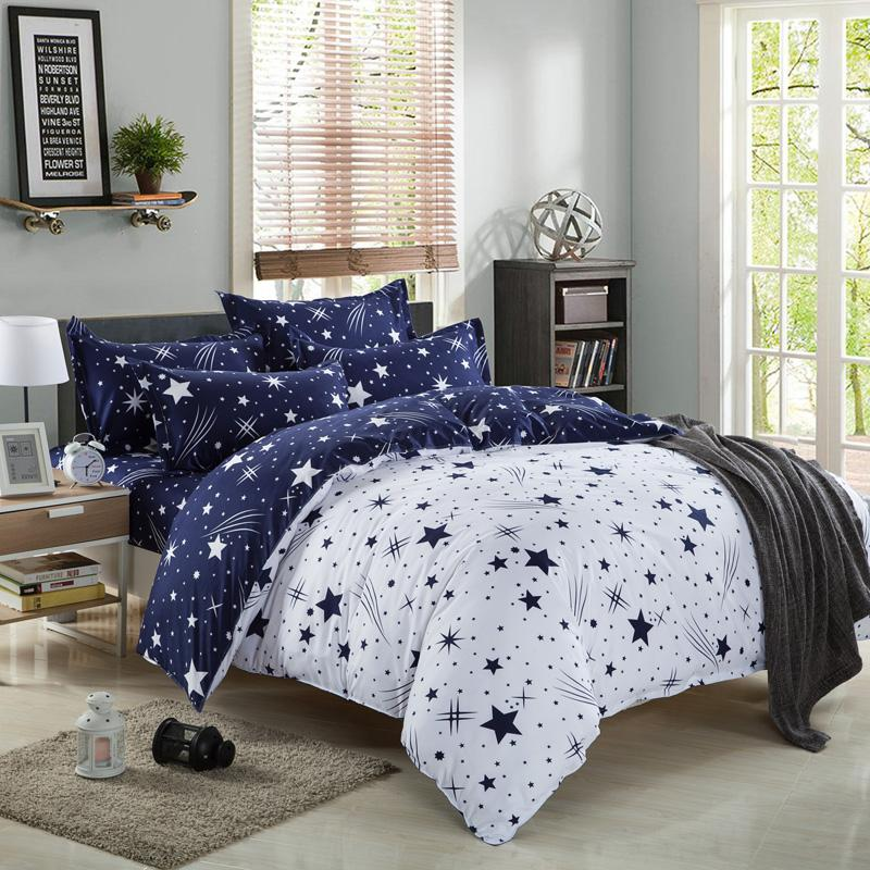 Bedding Set Fashion Luxury Stars Home Textile Duvet Cover Bed Linen