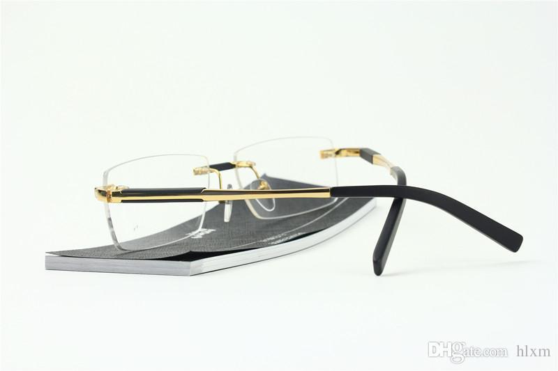 MB العين الجديد 0349 نظارات إطارات للرجال النظارات الإطار الذهب الفضة TR90 الزجاج البصري وصفة طبية نظارات الإطار الكامل